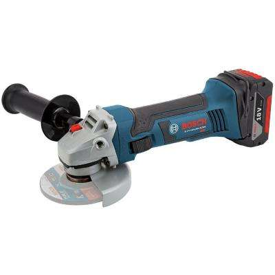 18-Volt Lithium-Ion Cordless 4-1/2 in. Small Angle Grinder Kit with (2) 4.0 Ah Batteries