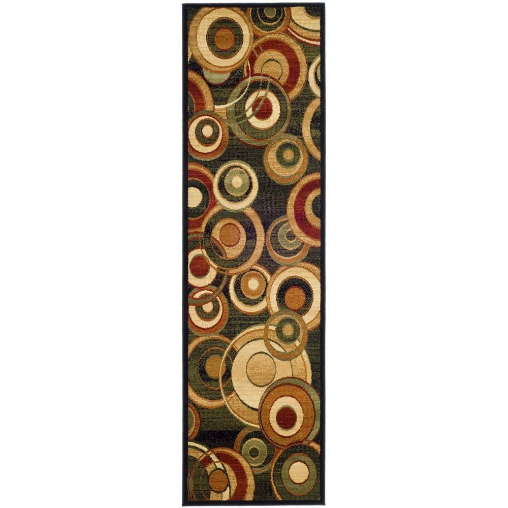 Safavieh Lyndhurst Black/Multi 2 ft. 3 in. x 12 ft. Runner