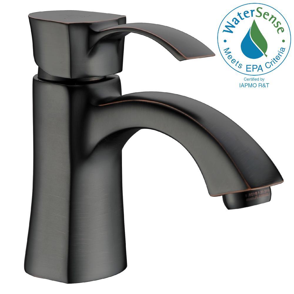 Alto Series Single Hole Single-Handle Mid-Arc Bathroom Faucet in Oil Rubbed Bronze