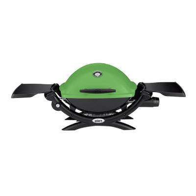 Q 1200 1-Burner Portable Tabletop Propane Gas Grill in Green