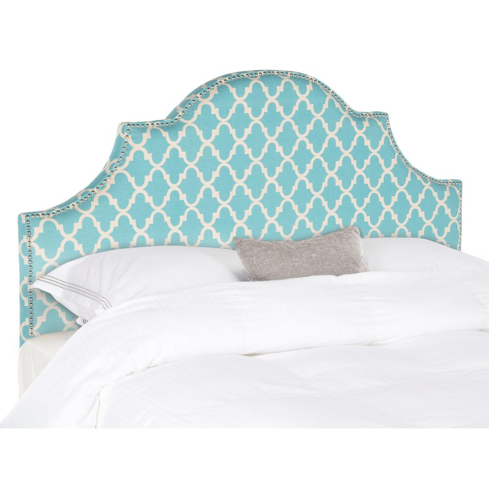 Hallmar Blue/White King Headboard