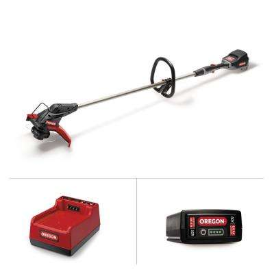 13 in. 40-Volt Lithium-Ion Cordless String Trimmer with Oregon Gator SpeedLoad head- 6.0Ah Battery and Rapid Charger