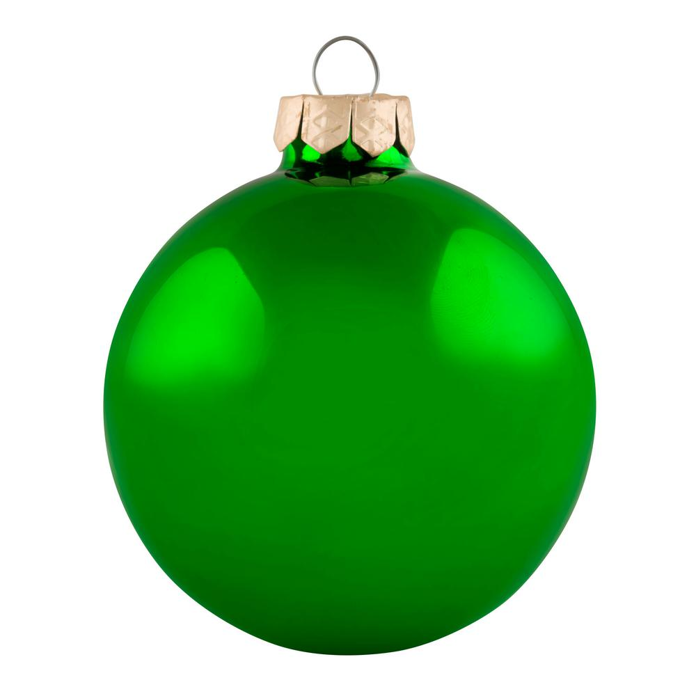 Whitehurst 2 In Green Shiny Glass Christmas Ornaments 28 Pack