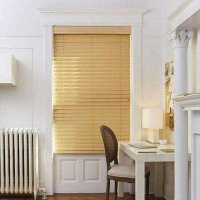 Off White Myblinds Faux Wood Blinds Blinds The Home Depot