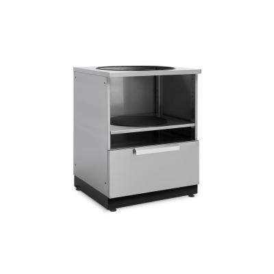 Stainless Steel Kamado 28 in. W x 36.5 in. H x 24 in. D Outdoor Kitchen Cabinet