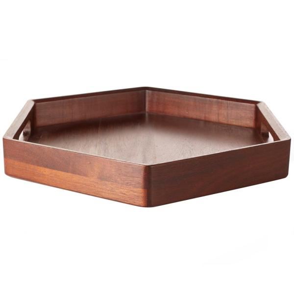 Libbey Urban Story 1-Piece Wood Tray