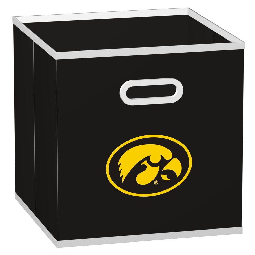 MyOwnersBox College STOREITS University of Iowa 10-1/2 in. W x 10-1/2 in. H x 11 in. D Black Fabric Storage Drawer