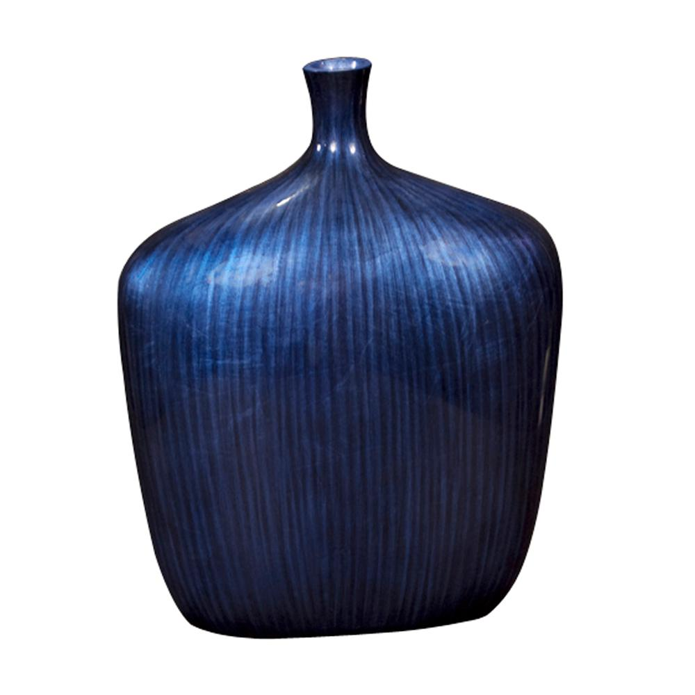 Large Sleek Cobalt Blue Decorative Vase