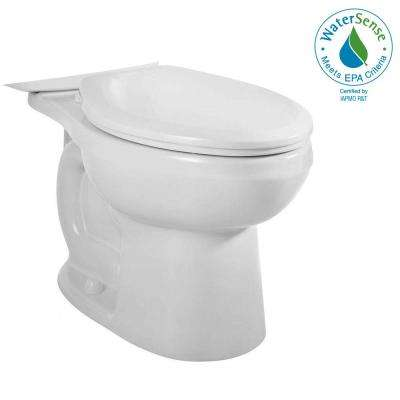 H2Option Siphonic Dual Flush Elongated Toilet Bowl Only in White