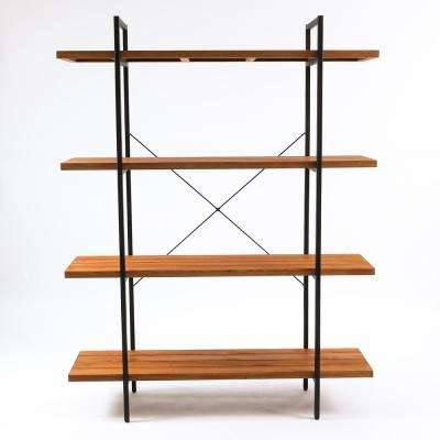 Wood 4-Tier Etagere Bookcase
