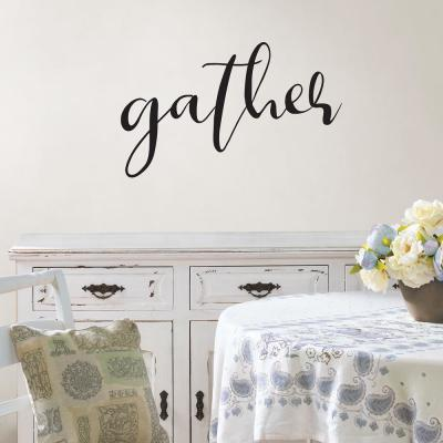 Black Gather Wall Quote Decal
