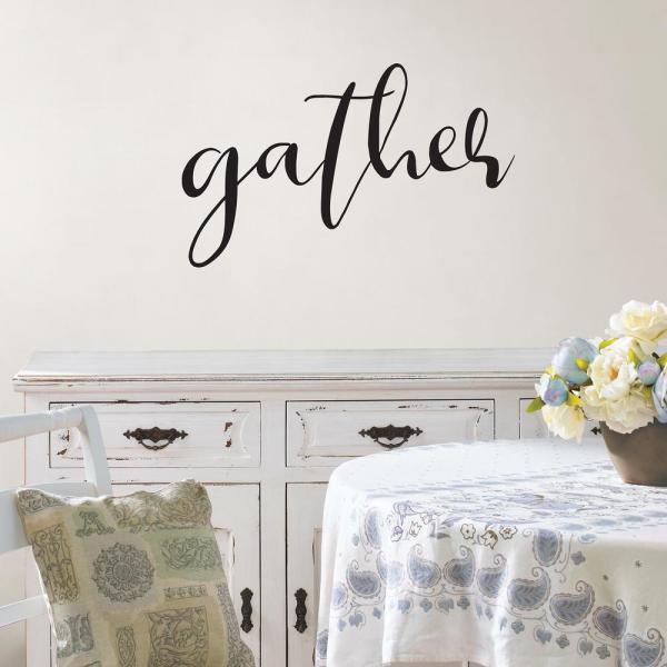 Wall Pops Black Gather Wall Quote Decal DWPQ2836