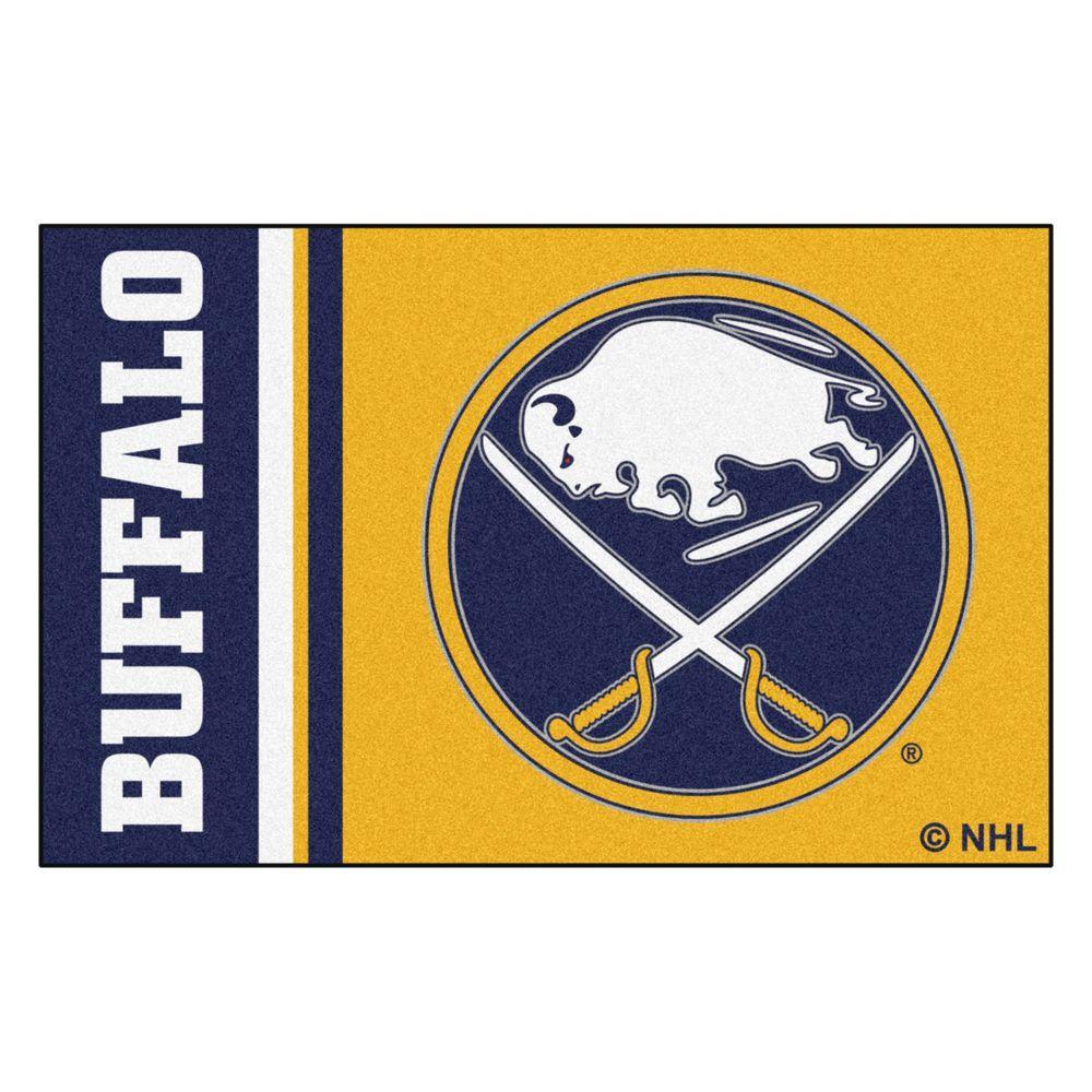 NHL - Buffalo Sabres Gold 2 ft. x 3 ft. Indoor Area Rug