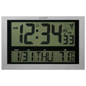 La Crosse Technology Jumbo Digital Atomic Wall Clock with Temperature by La Crosse Technology