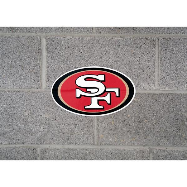 """SAN FRANCISCO 49ERS TEXT LARGE DECAL STICKER 12/""""x 2/"""""""