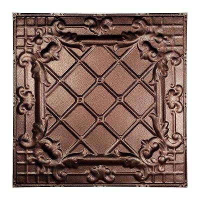 Toledo 2 ft. x 2 ft. Nail-up Tin Ceiling Tile in Penny Vein