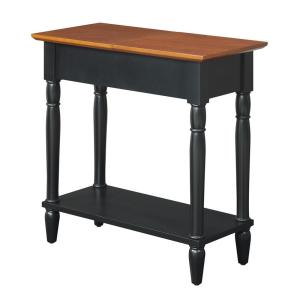Convenience Concepts French Country Black and Cherry Flip Top End Table by Convenience Concepts