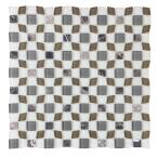 12 in. x 12 in. Glass Peel and Stick Mosaic Tile (12 pack/ 12 sq. ft.)