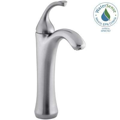 Forte Single Hole 1-Handle Mid-Arc Bathroom Faucet in Brushed Chrome