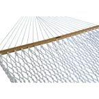 13 ft. Large Polyester Patio Rope Hammock in White