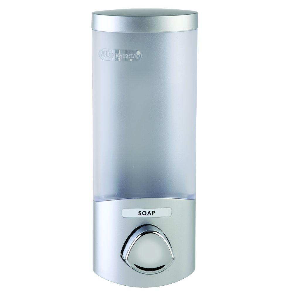 Better Living Products UNO Wall-Mount ABS Soap/Lotion Dispenser in Satin Silver