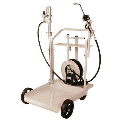 Mobile Heavy-Duty Oil Transfer Cart System with 25 ft. Reel for 55 Gal. Drums