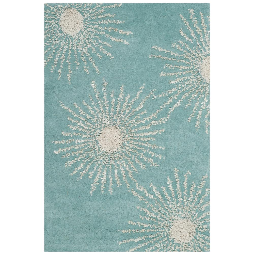 Safavieh Soho Light Teal/Multi 2 Ft. X 3 Ft. Area Rug
