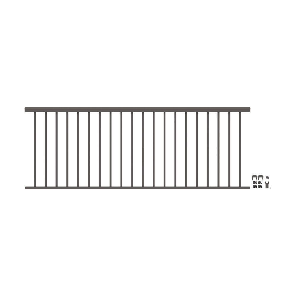 Penrose 8 ft. x 36 in. Matte Bronze Aluminum Decorative Rail Level Kit