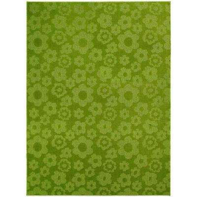 Flowers Lime 5 ft. x 7 ft. Area Rug