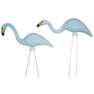BABYmingos 21 in. Baby Shower Blue Flamingo (10-Pack)