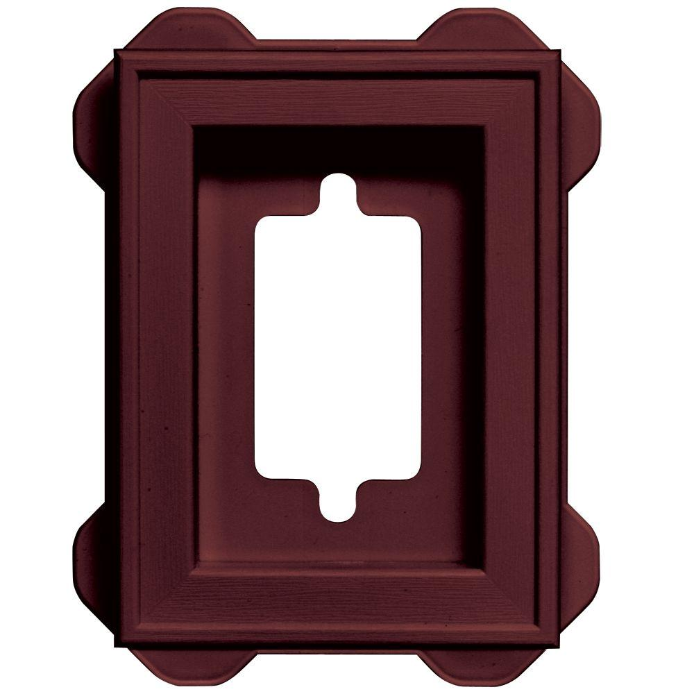5 in. x 6.75 in. #078 Wineberry Recessed Mini Universal Mounting