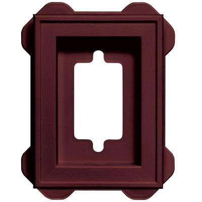 5 in. x 6.75 in. #078 Wineberry Recessed Mini Universal Mounting Block