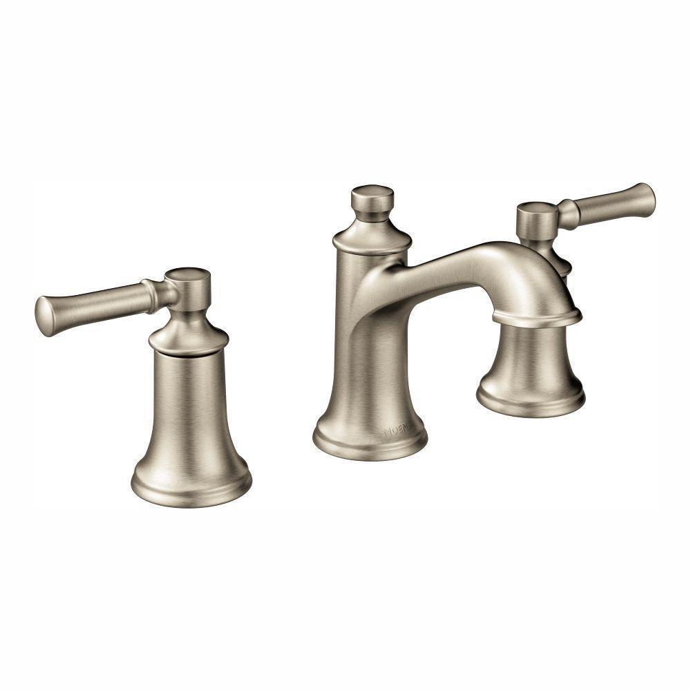 Dartmoor 8 in. Widespread 2-Handle Bathroom Faucet in Brushed Nickel (Valve Not Included)