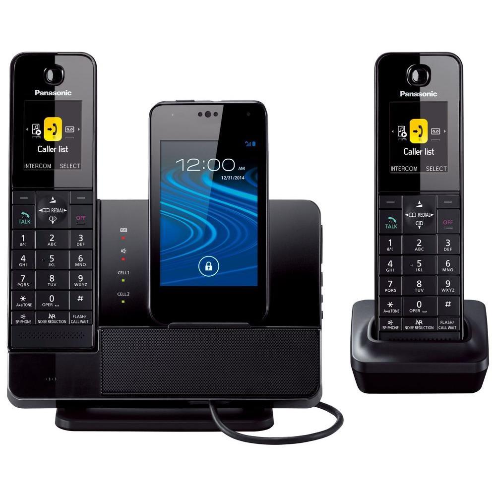 Panasonic Link2Cell 2-Handset Digital Cordless Dock Style Bluetooth Cellular Convergence... by Panasonic