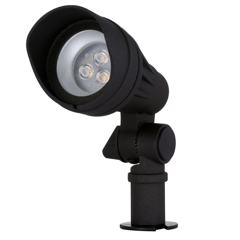 Low-Voltage 20-Watt Equivalent Black Outdoor Integrated LED Landscape Spot Light