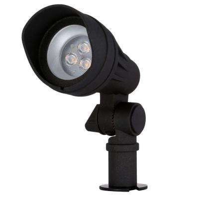 Low-Voltage Integrated LED (20W halogen equivalent) Outdoor Black Spot Light