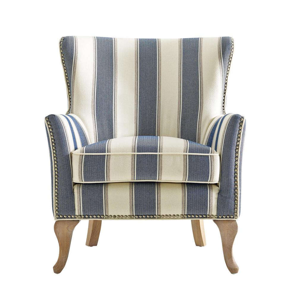 Dorel Living Dotty Blue Upholstered Accent Chair-FH7903-BL ...