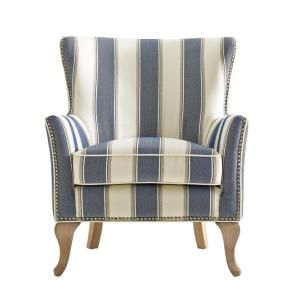 Dorel Living Dotty Blue Upholstered Accent Chair FH7903 BL   The Home Depot