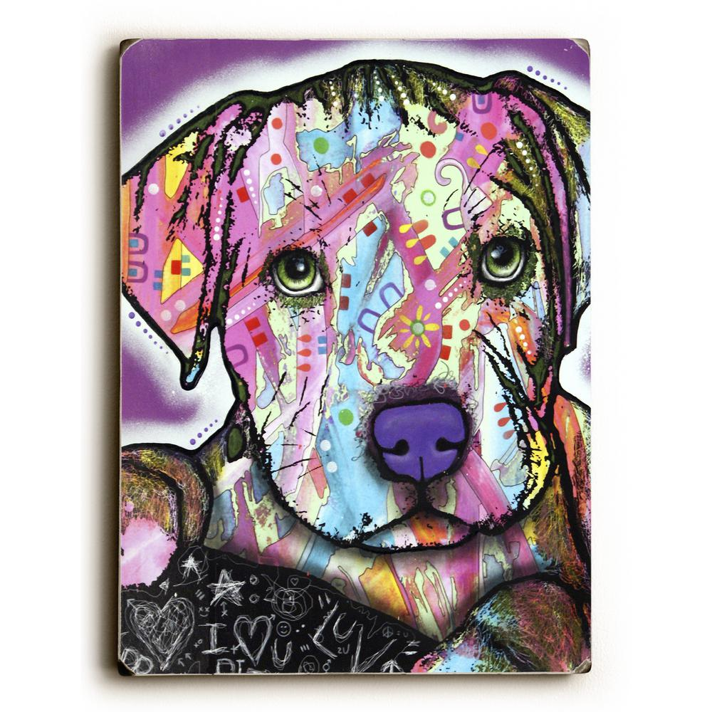 9 In X 12 In Baby Pit By Dean Russo Solid Wood Wall Art