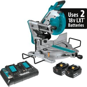 Makita 18-Volt 5.0Ah X2 LXT Lithium-Ion (36V) Brushless Cordless 10 inch Dual-Bevel Sliding Compound Miter Saw... by Makita