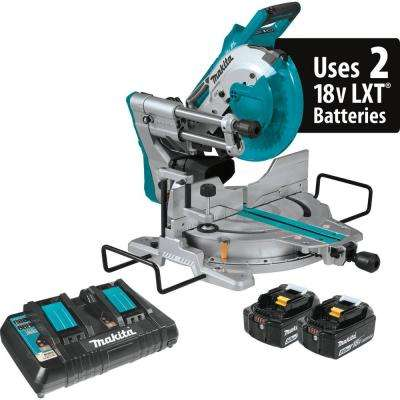 18-Volt 5.0Ah X2 LXT Lithium-Ion (36V) Brushless Cordless 10 in. Dual-Bevel Sliding Compound Miter Saw with Laser Kit
