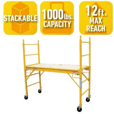 6 ft. x 6 ft. x 29 in. Multi-Use Drywall Baker Scaffolding with 1000 lb. Load Capacity