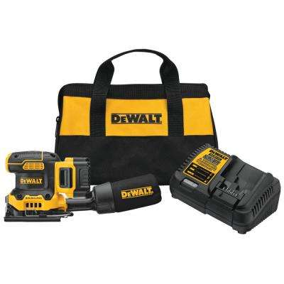 20-Volt MAX Lithium-Ion Cordless Brushless 4-1/2 in. x 5-1/2 in. Variable Speed Sander w/5.0 Ah Battery, Charger and Bag
