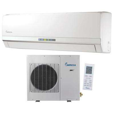12,000 BTU Ductless Mini Split Air Conditioner & Heat Pump with Inverter System - 115V/60Hz