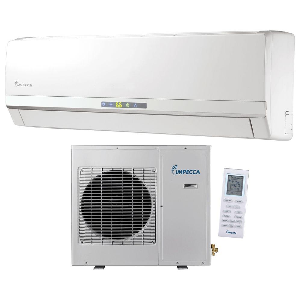 Impecca 12,000 BTU Ductless Mini Split Air Conditioner & Heat Pump with Inverter System - 115V/60Hz, White Interior comfort is a must for many people across the county. Anyone who needs an alternative air conditioning system and does not like the look a window A/C unit should consider a mini-split system. A mini-split air conditioner operates very efficiently but without look of a window mounted unit. Mega Standard Single Zone Inverter: Impecca's new line of heat pump duct-free split products. Systems are available in 12,000, and 24,000 BTU/hour capacities. The single-zone systems feature energy-saving Inverter (variable-speed compressor) technology and are controlled through a standard wireless remote. Welcome to Impecca: Air conditioning business is a leading player in the global air conditioning market, manufacturing both commercial and residential air conditioners and providing total sustainability and building management solutions. From consumer units to commercial air conditioning systems, Impecca provides a wide range of innovative products for heating, ventilating and air conditioning. How to choose a room air conditioner: Compared to large capacity central units, room air conditioners have several advantages. The initial cost of a room air conditioning unit is significantly lower than the cost of central air. Because room air conditioners are designed for cooling small spaces, operating costs are reduced. And, room air conditioners can provide personalized temperature and humidity controls that central systems cannot. Color: White.