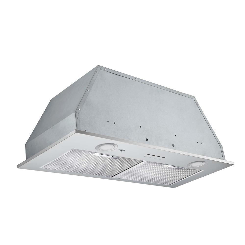 Inserta Elite 28 in. Insert Range Hood with LED in Stainless Steel