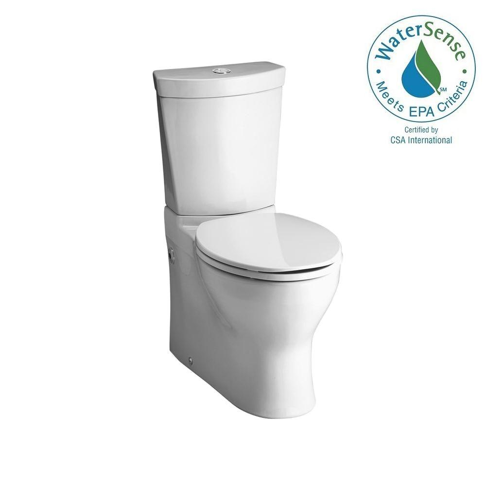 KOHLER Persuade 2-piece 0.8 or 1.6 GPF Dual Flush Elongated Toilet in White