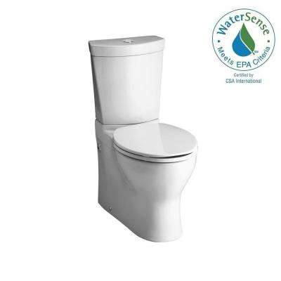 Persuade 2-piece 0.8 or 1.6 GPF Dual Flush Elongated Toilet in White