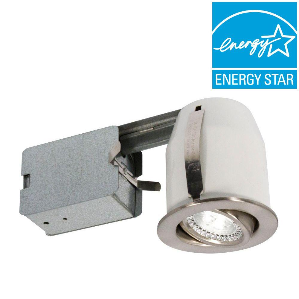3 in brushed chrome recessed led lighting fixture 303l5b the brushed chrome recessed led lighting fixture mozeypictures Choice Image