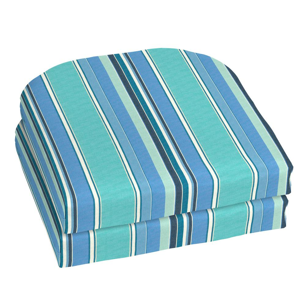 18 x 18 Outdoor Chair Cushion in Sunbrella Dolce Oasis (2-Pack)